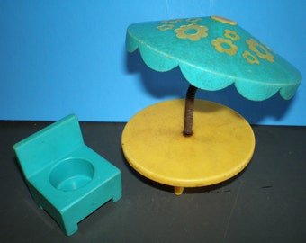 Vintage Children's Toy - Fisher Price Little People - Patio Set