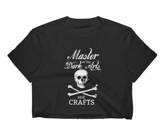 Master of the Dark Arts and Crafts Black Crop Top