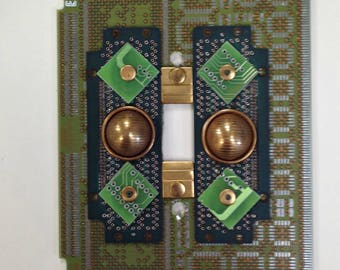 Recycled Circuit Board LIGHT SWITCH PLATE Geekery sp7