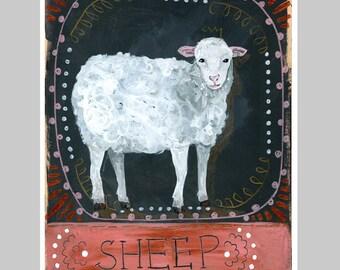 Animal Totem Print - Sheep