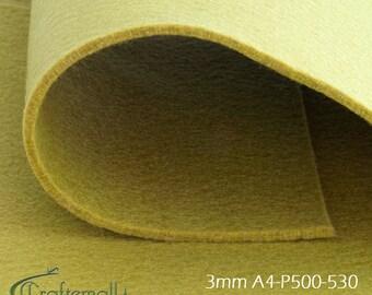 3mm Felt sheet 200x300mm - light green - A4-P500-530
