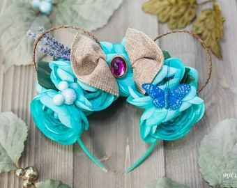 Jasmine Flower and Garden Disney Inspired Fooral Ears