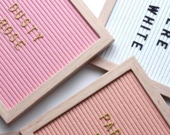 Handmade dusty rose pink oak letter board wall decor