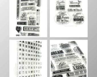 Silicone pads - alphabets / Christmas messages