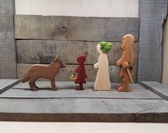 Little Red Riding Hood, Little Red Riding Hood Storytelling, Little Red Play Set, Wooden Little Red Riding Hood, Red Riding Hood Toys