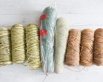Eight Vintage Yarn Skeins for Weavers