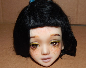 Standard Black wig with some braids