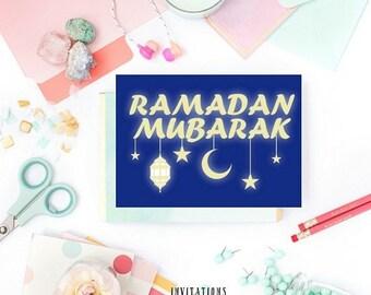 13% OFF SALE- DIGITAL Card  Ramadan Mubarak Ramadan Cards Ramadan Greetings Greeting Cards Islamic cards Muslim Gasting Muslim Cards Ramadan