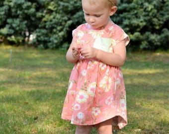 Girls summer dress - girls summer outfit - summer dress for girls - summer dress - girls summer clothing - girls floral dress - pink dress