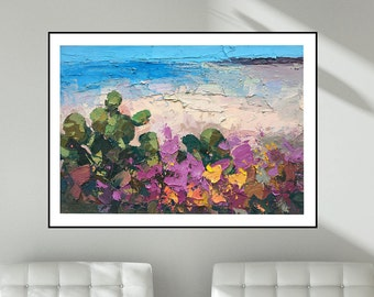 Beach Print Seascape Prints Canvas Print Cactus Print Flowers Prints Sea Prints Modern Prints Large Wall Art Prints Gifts for Her Men Gifts