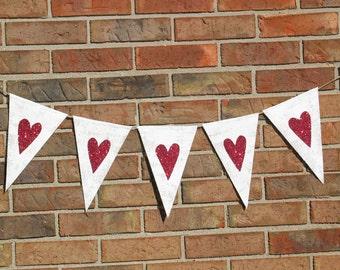 Valentines day  ..   Heart Banner ..  Wedding Banner ....  Engagement Photo