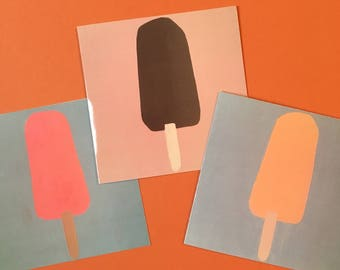 Popsicle Cards- pack of 3