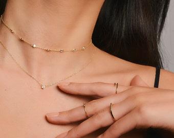 Dainty necklace- zircon necklace - Delicate necklace - Minimalist necklace - Dainty Necklace - Dainty Jewelry - Minimalist Jewelry