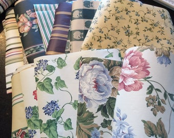 Vintage wallpaper scrap packs