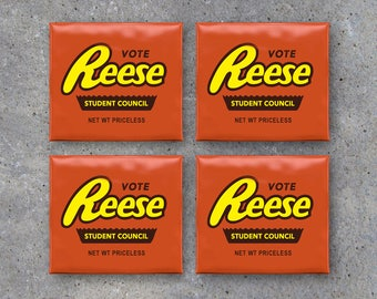 Election Campaign Reese's Peanut Butter Cup Toppers – Printable VOTE campaign party favor ideas - personalized giveaways with name and title
