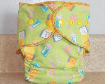 Fitted Medium Cloth Diaper- 10 to 20 lbs- Baby Items-18009