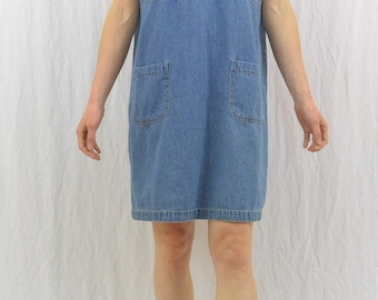 Vintage Denim Dress, Size Small-Medium, Grunge, 90's Clothing, Lace Up, Indie Clothing, Hipster, Tumblr Clothing, Mori Girl