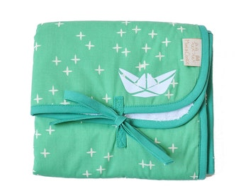 Changing mat in organic cotton - boat travel