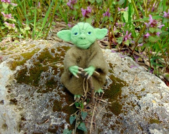 Needle felted Yoda Yoda toy Star Wars Felted Star Wors Toys