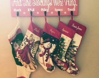 Personalized Stocking Holder Wall Decor