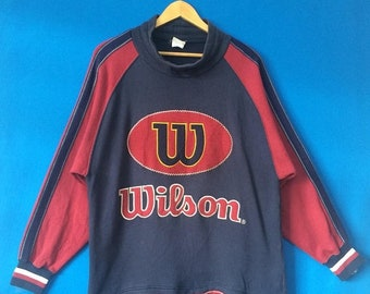 20% OFF Vintage WILSON Sweatshirt Big Logo Spell Out Embroidered Size Medium