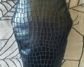 Black Snake / Crocodile Print Coffin Pillow
