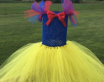 Snow White Tutu, Girl's Snow White Costume, Girls Halloween Costume, Princess Costume, Girls Dress Up Outfit, Princess Dress,