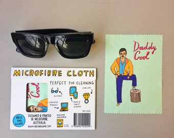Microfibre Cloth - Daddy Cool | Glasses Cleaning Cloth | Eye Glasses Cleaning Cloth | Glasses Cleaner