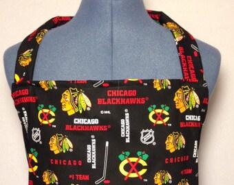 Chicago Blackhawks- Full Size BBQ Apron with Pockets