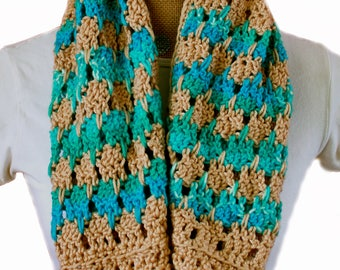 lace infinity scarf pattern - Endless Oasis Infinity Scarf crochet pattern -crochet cowl pattern