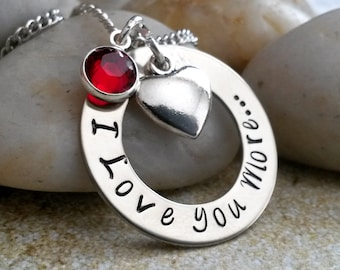 I Love You More Necklace - Valentines Day Gifts, Gift for Wife, Daughter Gift, Girlfriend Gift, Personalized Necklace, Anniversary Gift