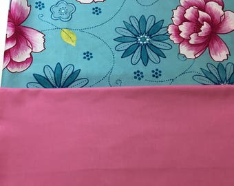 Blue and PInk Hibiscus Bike Basket liner for Bell Lotus, Huffy, Electra Bike baskets Metal Wire Wicker or Mesh