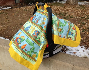 Tortoise and the Hare Baby Car Seat Cover