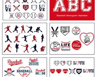 Baseball Mega SVG bundle, Baseball frames quotes letters, Vector baseball frame clipart Cricut download svg jpg png dxf Silhouette