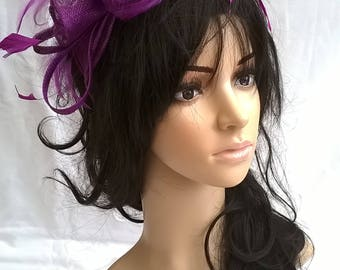 Purple rosette fascinator without crystal stamens..on a headband  ..Stunning for races ,wedding..bag seperate  purchase