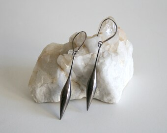 Large Sterling Drop Earrings