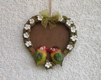 Love birds parrots photo frame