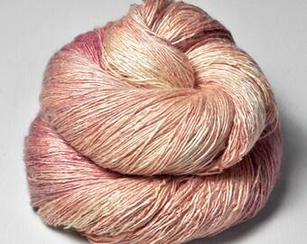 Rotten Sushi OOAK - Tussah Silk Lace Yarn - Hand Dyed Yarn - handgefärbte Wolle - DyeForYarn