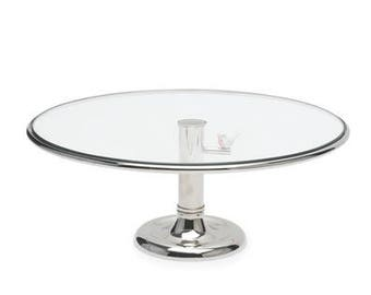 Silver Wedding Cake Stand with Bird