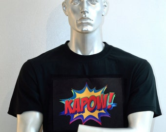 Pop Art-t-Shirt - Comic-Strip Shirt - Kapow! -Pulp Fiction