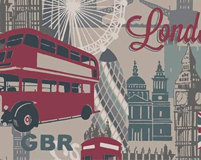 Destinations by Northcott Fabrics - London - Cotton Woven Fabric