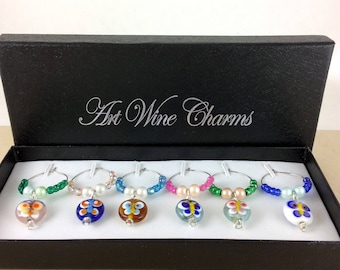 Wine Glass Charms, Butterfly Wine Charms, Wine Lover Gift, Wine Charms, Wine Gift,  BFF Gift, butterfly lovers charms, butterfly charms