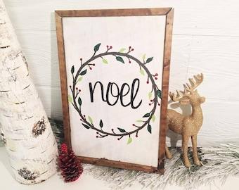 Noel Farmhouse Wood Christmas Sign