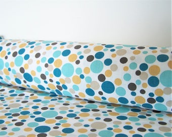 Coupon with polka dots, 3 different colors, 48 X 50 cm, cotton fabric