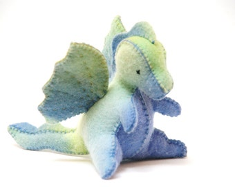 Felt Toy PDF Pattern - Baby Dragon