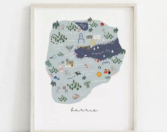 City Of Barrie Print, PrintableArt, Barrie Print, Barrie Map Print, Map of Barrie, Barrie Canada, Print of Barrie Ontario, Barrie City Print
