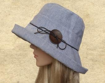 Suns hats women, Sun cloche hats, Cotton womens hats, Wide large brim hat, Beach summer hat, Hats for summer,  Sun flapper hat, Sun hat lady