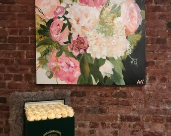 48x60 Custom Bouquet Painting