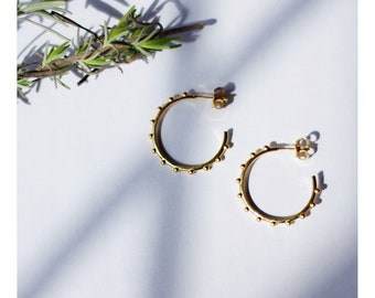 18ct Gold Vermeil Bobble hoops