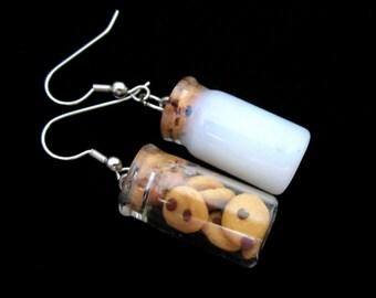 Milk and Cookie Earrings